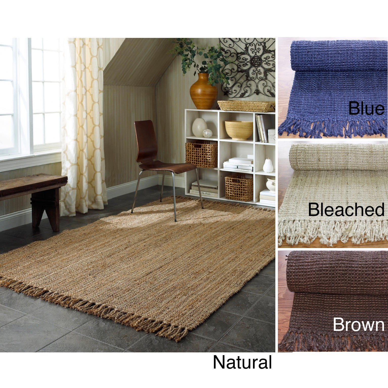 nuLOOM Handmade Eco Natural Fiber Chunky Loop Jute Rug (8' x 10') at Sears.com