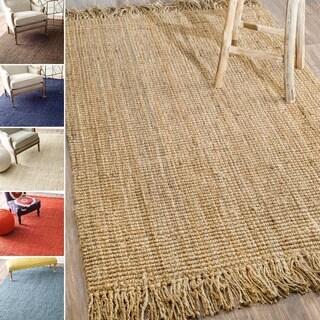 nuLOOM Handmade Eco Natural Fiber Chunky Loop Jute Rug (8' x 10')