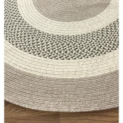 nuLOOM Handmade Reversible Braided Green Villa Rug (7'6 x 9'6 Oval)