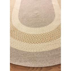 nuLOOM Handmade Reversible Braided Gold Chalet Rug (3'6 x 5'6 Oval)