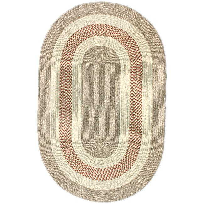 nuLOOM Handmade Reversible Braided Rust Lodge Rug (3'6 x 5'6 Oval)