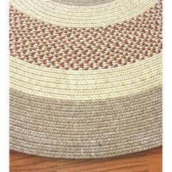 nuLOOM Handmade Reversible Braided Rust Lodge Rug (7'6 x 9'6 Oval)