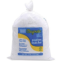 White Claycrete Papier Mache 5-pound Bag