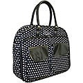Cgull Cricut Cartridge Black/ White Canvas Storage Tote