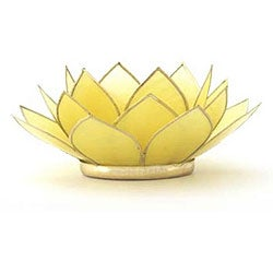 Capiz Shell Gemstone Canary Lotus Tea Light (Philippines)
