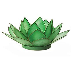 Capiz Shell Paradise Rainforest Lotus Tea Light (Philippines)