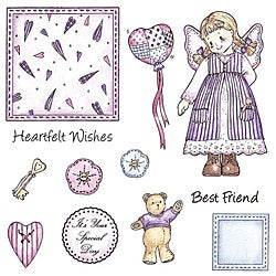 Patchwork Polly 'Olivia' Unmounted Rubber Stamp Set