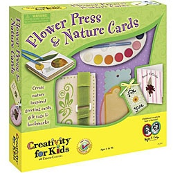 Nontoxic Flower Press and Nature-inspired Greeting Card Kit