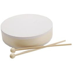 Unpainted Drum and Sticks Musical Instrument Set
