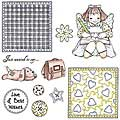 Patchwork Polly 'Julie' Unmounted Rubber Stamp Set