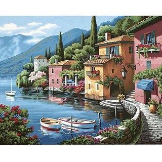 Lakeside Village Paint-by-Number Kit (20x16)