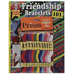 DMC Friendship Bracelets 101 Book and Prism Floss Pack