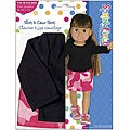 Springfield Collection 18-inch Doll Black Shirt and Pink Camo Skirt Set