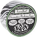 Fancy That! Black Zebra 25-yard Decorative Packing Tape