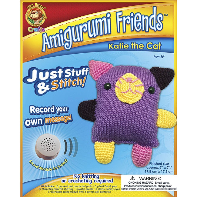 Amigurumi Beginner Kit : Amigurumi Friends Katie the Cat Stitching Kit - Overstock ...