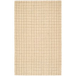 Handmade South Hampton Basketweave Beige Rug (5' x 8')