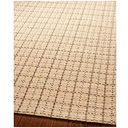 Handmade South Hampton Basketweave Beige Rug (8' x 11')