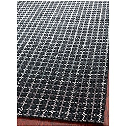 Handmade South Hampton Basketweave Black Rug (8' x 11')