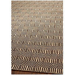 Handmade South Hampton Southwest Brown Rug (8' x 11')