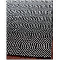 Handmade South Hampton Southwest Black Rug (8' x 11')