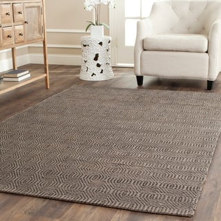 Hand-woven South Hampton Southwest Grey Rug (5' x 8')