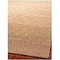 Handmade South Hampton Zag Gold Rug (4' x 6')