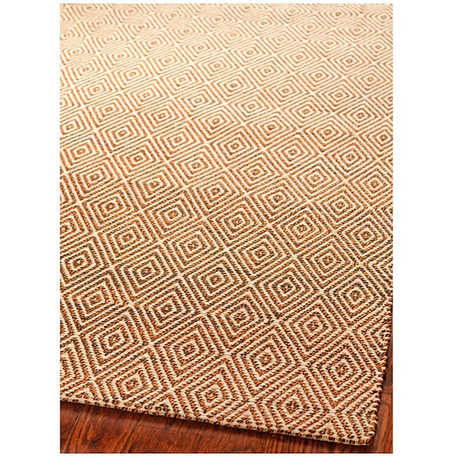 Safavieh Handmade South Hampton Zag Gold Rug (5' x 8')