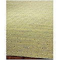 Handmade South Hampton Zag Green Rug (2' x 8')