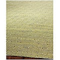 Handmade South Hampton Zag Green Rug (8' x 11')
