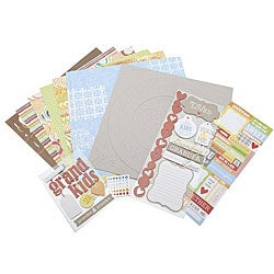 My Grandkids 12-inch Scrapbook Page Kit