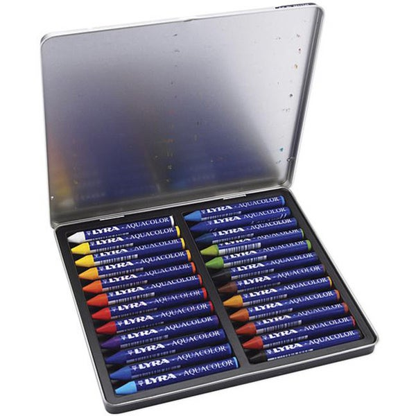 Lyra Aquacolor High-pigmented Water-soluble Crayons (Pack of 24)