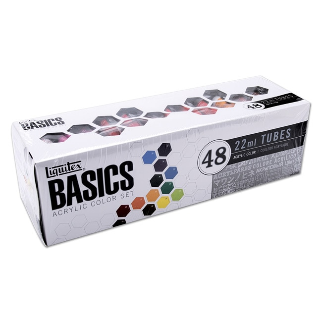Basics Acrylic 48-pc Paint Set