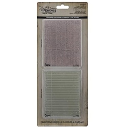 Ellison Sizzix Texture Fades 'Collage & Notebook' Embossing Folders