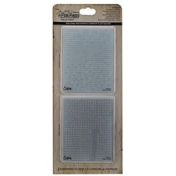 Ellison Sizzix Texture Fades 'Dot Matrix & Gridlock' Embossing Folders