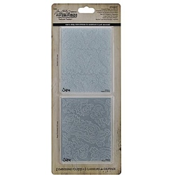 Ellison Sizzix Texture Fades 'Damask & Regal Flourishes' Embossing Folders
