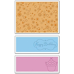 Ellison Sizzix Textured Impressions 'Birthday #3' Embossing Folders (Pack of 3)