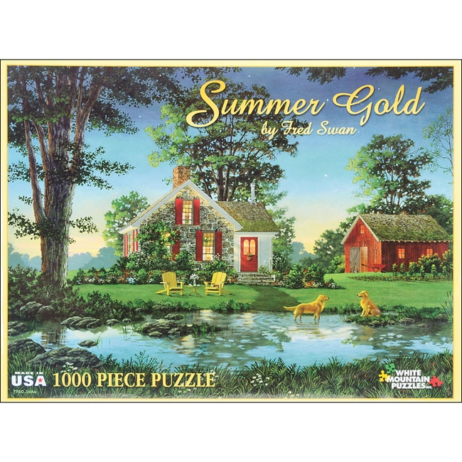 Fred Swan Summer Scene Gold 1000-piece White Mountain Jigsaw Puzzle