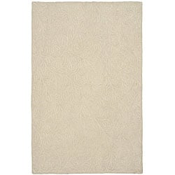Martha Stewart Sprig Snowberry White Cotton Rug (2'6 x 4'3)