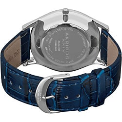 Akribos XXIV Men's Diamond Blue Brilliance Swiss Quartz Strap Watch
