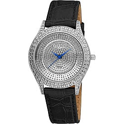 Akribos XXIV Women's Diamond Silver Brilliance Swiss Quartz Strap Watch