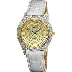Akribos XXIV Women's Diamond Gold Brilliance Swiss Quartz Strap Watch