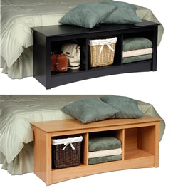 Wood Cubby Bench