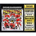 2010 Stanley Cup Champions Chicago Blackhawks 12x15-inch Stat Plaque