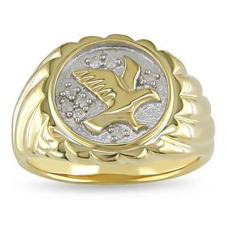 Men's 1/10ct TDW Diamond Eagle Ring (H-I, I2-I3)