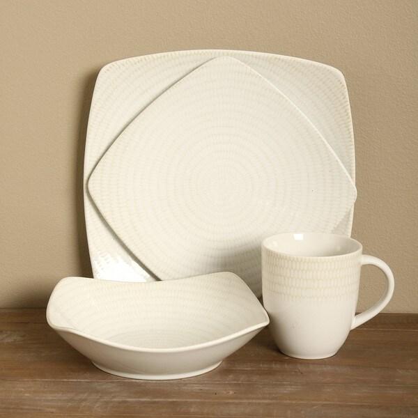 Red Vanilla White Rice 16-piece Dinnerware Set