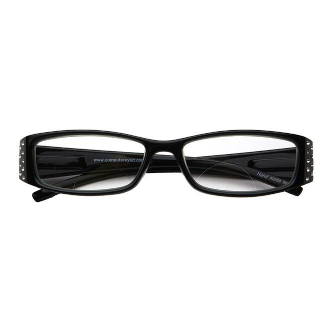 black rhinestone computer reading glasses 13024368