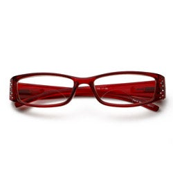 Red Rhinestone Computer Reading Glasses