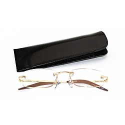 Unisex Rectangular Rimless Computer Reading Glasses
