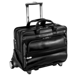 McKlein Franklin Leather 17-inch Detachable-wheel Laptop Case