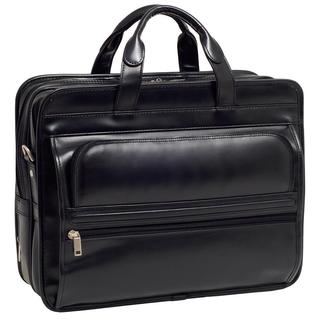 McKlein Elston Leather Double-compartment 17-inch Laptop Briefcase